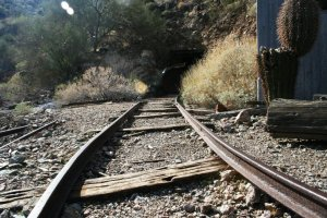 The original tracks into the Big Eye Mine, which is actually quite a bit smaller inside than the previous, closed mine