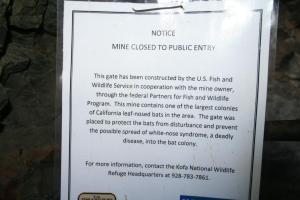 Mine Closed Sign