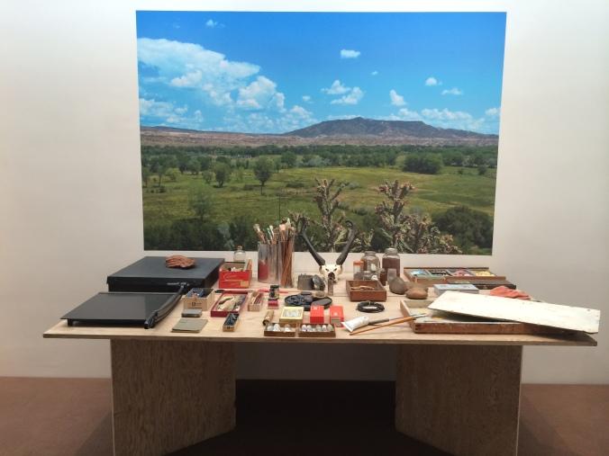 Georgia O'Keeffe's workspace
